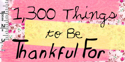 50 things to be thankful for
